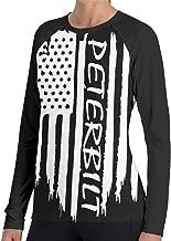 CoolTlong Women Long-Sleeved Tshirt American Flag Peterbilt Autumn Winter Casual 3D Print T-Shirt