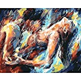 Abstract Oil Painting by Numbers Couple Sex DIY Craft Handmade Kits Paint for Adults On Canvas by Numbers Color Drawing
