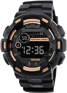 Relojes Deportivos para Hombre, Resistente al Agua Digital Militares Relojes Hombres niños Grandes, LED de analógico Reloj...