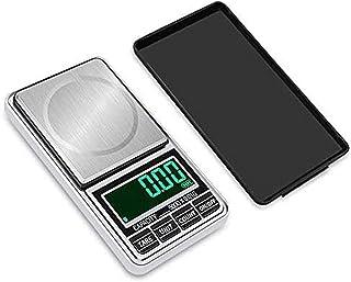 ZCY Báscula de Bolsillo Digital Báscula de pesaje de joyería Báscula de Pantalla LED portátil de Alta precisión Herramienta de Equilibrio de Peso de Carga USB 100g / 0.01g - Plata