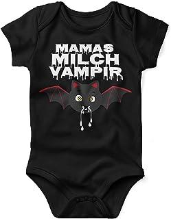 Mikalino Babybody mit Spruch für Jungen Mädchen Unisex Kurzarm Mamas Milch Vampir | handbedruckt in Deutschland | Handmade with Love