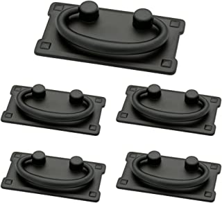 Franklin Brass P62076-FB-C1, Horizontal Bail Drawer Pulls Cabinet Hardware Collection, Cabinet Pulls, 3 in., Flat Black, 5 pack