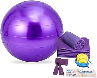featured product YEVITA Exercise Ball with Yoga Mat, Yoga Towel, Yoga Strap,Yoga Storage Bag, Stability Ball, Improves Balance and Core Strength,Anti-Burst & Extra Thick, Yoga Set Kit 5-Piece