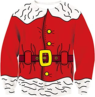 Leapparel Men&Women Ugly Christmas Sweater Funny Sweatshirt Long Sleeve Pullover