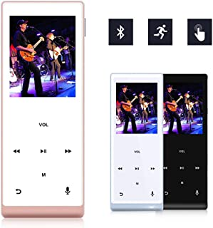 MYMAHDI Music Player, 8GB with Bluetooth MP3 Player Hi-Fi Sound 60 Hours Playback, Portable Audio Player Expandable Up to ...