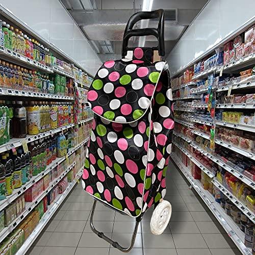 Design 40L Einkaufswagen mit Tasche | Einkaufstrolley | Einkaufsroller mit Einkaufstasche | klappbare Trolley für Shopping