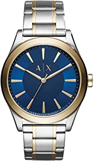 Armani Exchange Mens Quartz Watch, Analog Display and Stainless Steel Strap AX2332