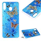 Glitter Foil Flakes Case for Galaxy M30,Cistor Luxury Bling Sparkle Printed Pattern Cover Anti-Scratch...