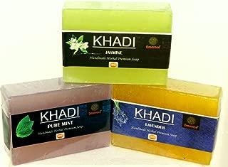 Khadi Soap(Mint + Lavender + jasmine) Combo pack 125 Gm X 3