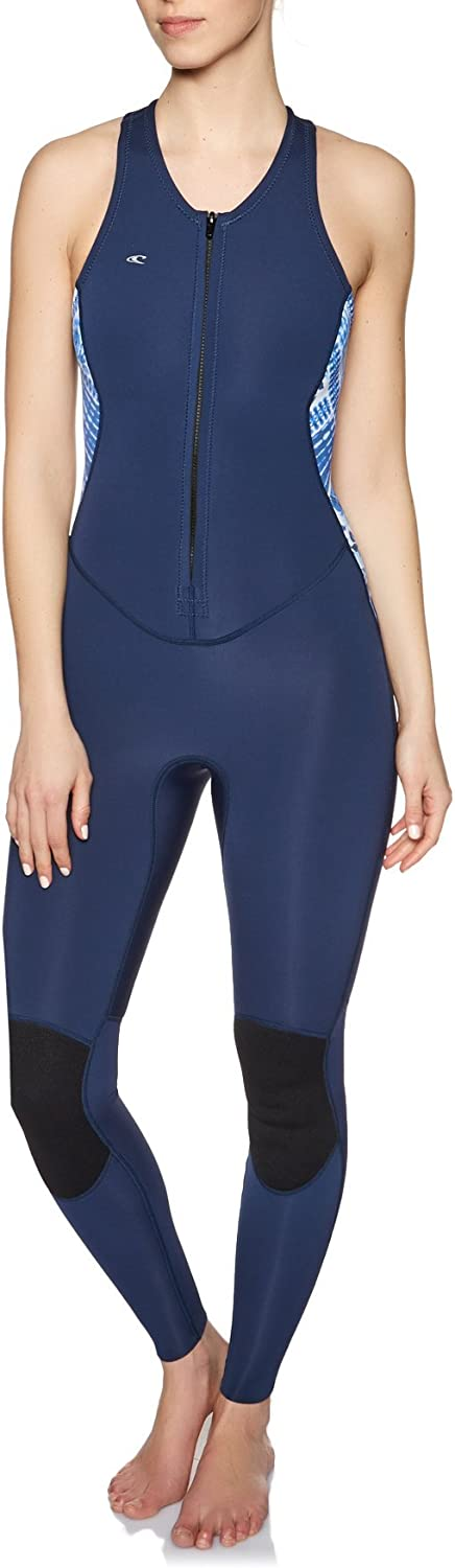 O';Neill damen Bahia 1.5MM Front Zip Long Jane Navy Indigo - 100% Superstretch B079HV1J7V  Stimmt