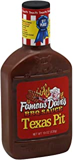 Famous Daves-BBQ Sauce Texas Pit 19.0 OZ(Pack of 2)
