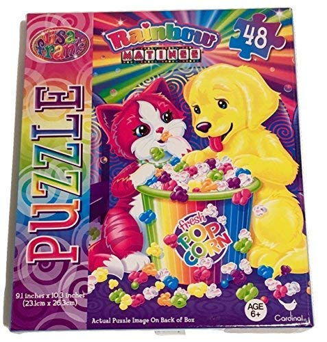 Arts and Crafts for Kid's; Lisa Frank Animal Artwork Designs; 48-Piece Jigsaw Puzzle, Click Pen, Activity Book with Stickers, Fun with Kittens and Puppies; 3-pc