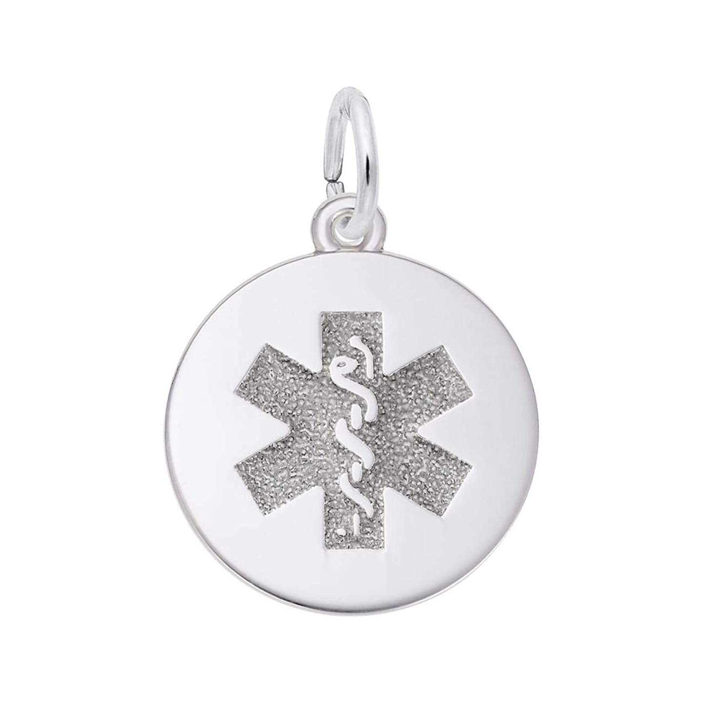 Sterling Silver Medical Symbol Charm