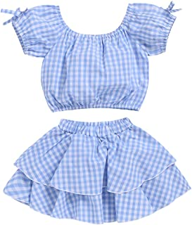 Toddler Kids Baby Girl Striped Ruffle Sleeveless Vest Top Bowknow Shorts Outfit Set Summer Clothes