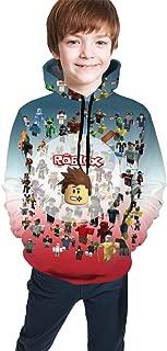 LiYardeg Rob-lox Children's Hoodies Sweatshirt Unisex Pocket Hooded Sweatshirts for Boys/Girls/Teen/Kid's Unisex-Baby