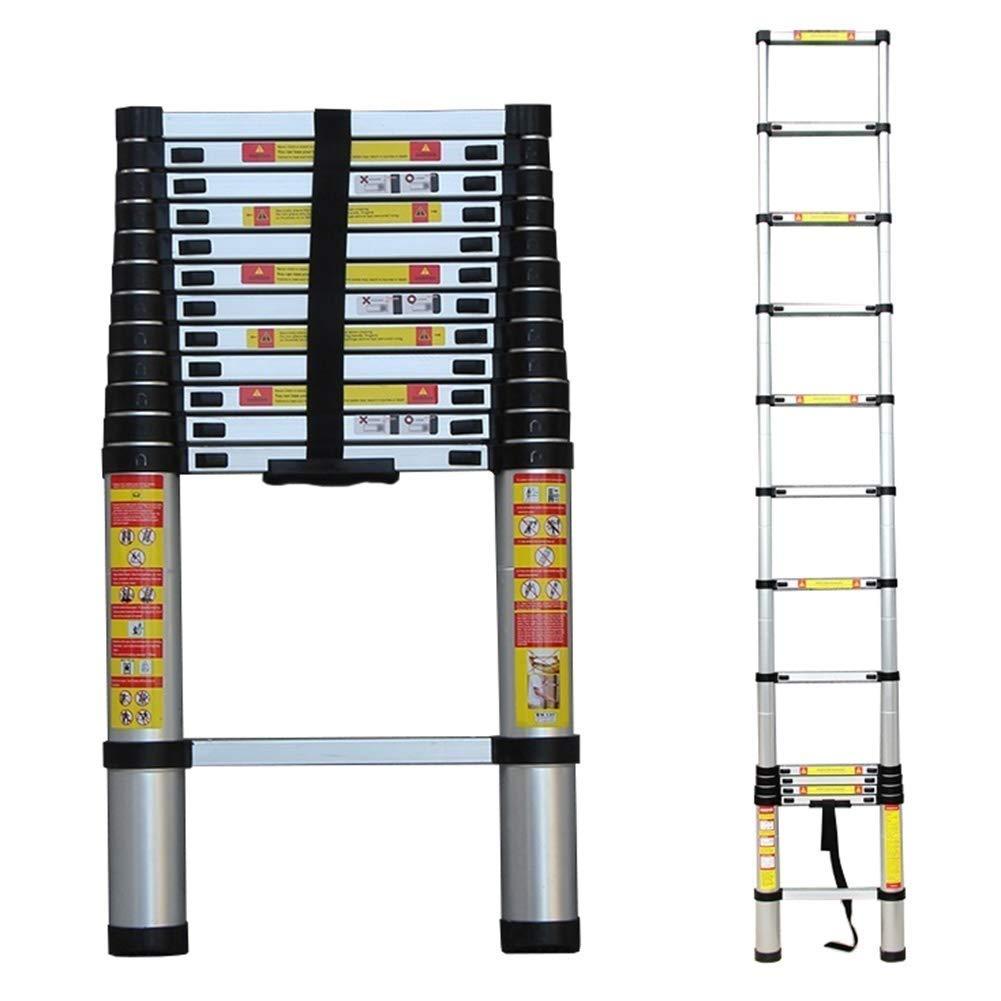 AA-SS Escalera de extensión Extra Alta de Aluminio, Escalera de Techo telescópica Plegable para Oficina Exterior de ático de Techo, Carga de 150 kg: Amazon.es: Hogar