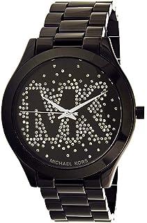 ساعة ران واي بمينا اسود وسوار ستانلس ستيل للنساء من مايكل كورس - MK3589