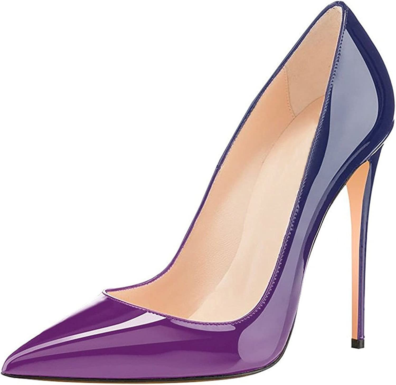 Sammitop Women's Pointed Toe Evening Pumps Stiletto High Heels Slip-on Sexy Dress shoes