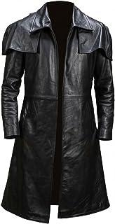 Fashion_First - Cappotto da uomo in pelle per trench, modello A7 Vega Veteran Ranger