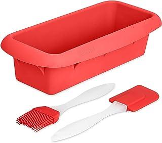 GOURMEO moulessilicone gateaux rectangle avec effet anti-adhérent , pour pains jusqu'à 1 kg | moule à pain flexible, moule...