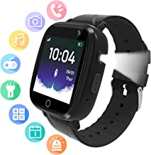 Kids Smartwatch for Boys Grils - Game Smart Watch for Kids with Phone Call,SOS,7 Games,Camera,Music Player,Alarm Clock Kids Smart Watches for Boys Girls Children 4-12 Year (Black)