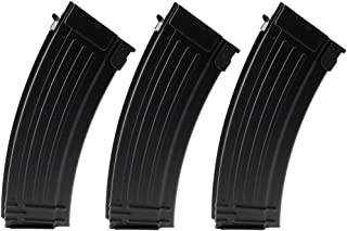 SportPro 150 Round Metal Medium Capacity Magazine for AEG AK47 AK74 3 Pack Airsoft – Black