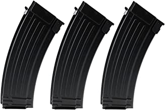 SportPro 150 Round Metal Medium Capacity Magazine for AEG AK47 AK74 3 Pack Airsoft – Black