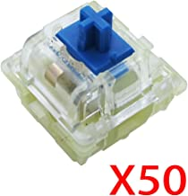 Wholesales Authentic RGB Cherry Switch, Cherry Mx Switches, Keycap, Keyswitches Keymodule Mechanical Keyboard Switches Replacement (50 pcs, Blue 3 pin)