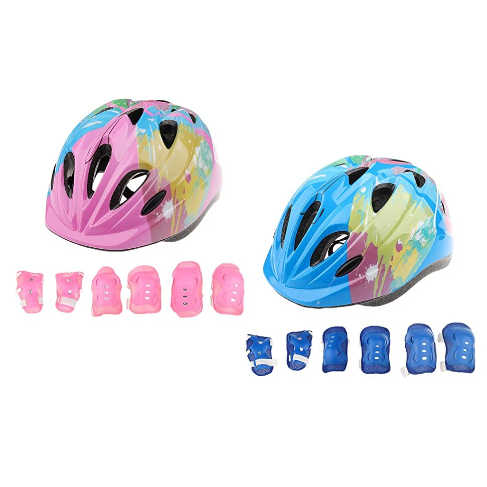 エネルギー生産性引き潮Perfeclan 自転車ヘルメット 子供安全 キッズプロテクター 保護具 軽量 調整可能 サイクリングヘルメット