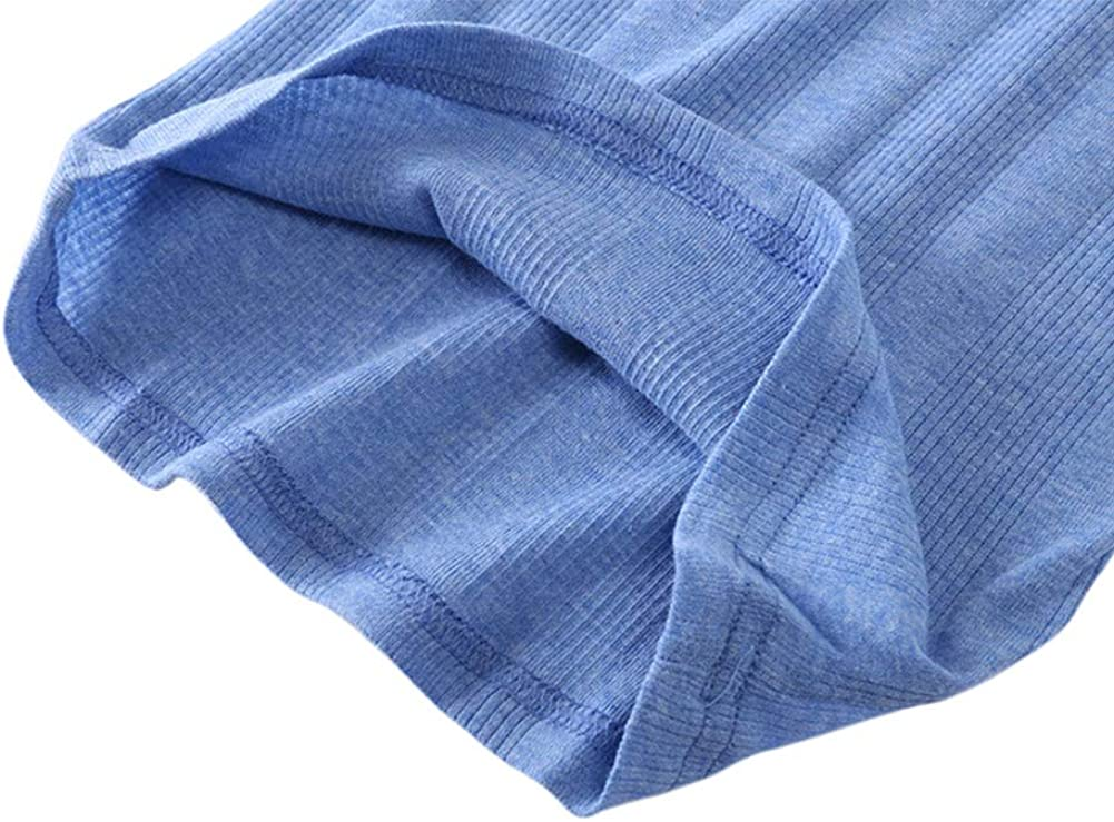 Toddler Boys Girls Short Sleeve Tee Crew Neck Tops Little Kids Ribbed Cotton T-Shirt,24Months-3Years
