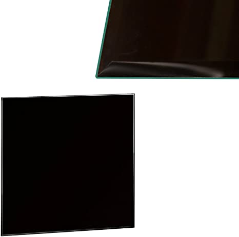 Glasplatte 70x70cm Eckig Schwarz Glasscheibe Tischplatte ESG Glas Kaminplatte Kaminglas DIY Tisch neu.haus