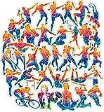 Active Sports Pegatinas de fitness para teléfono móvil, coche, motocicleta, portátil, equipaje, bicicleta, monopatín, nevera, juego de 50 pegatinas