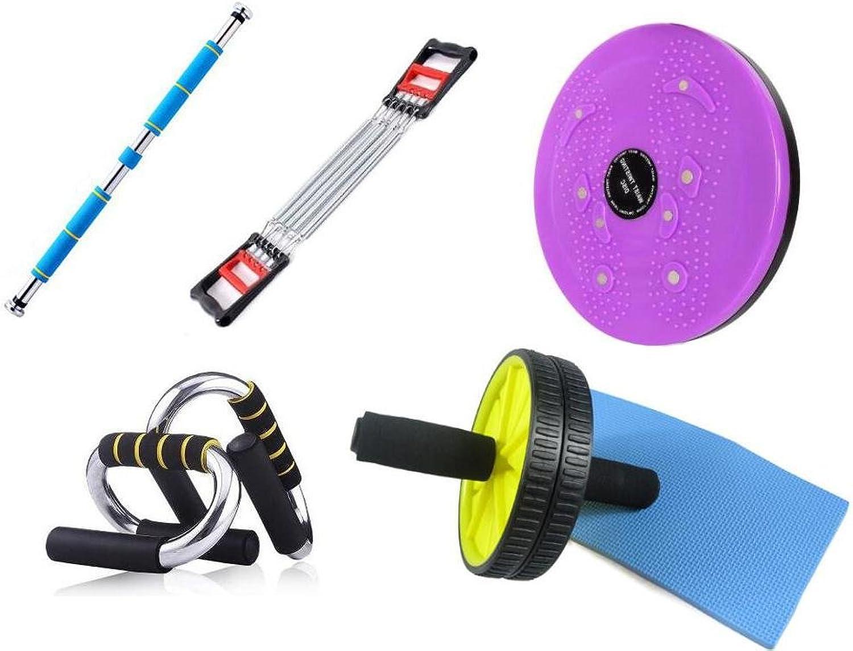 YHKQS-KQS Fitness-Ausrüstung Multifunktionale Kombination Horizontale Bar   Brust Pull   Push Up Bar   Abdominal Roller   Größe Twisting