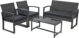 Patiorama 4 Pieces Outdoor Patio Furniture Set, Outdoor...