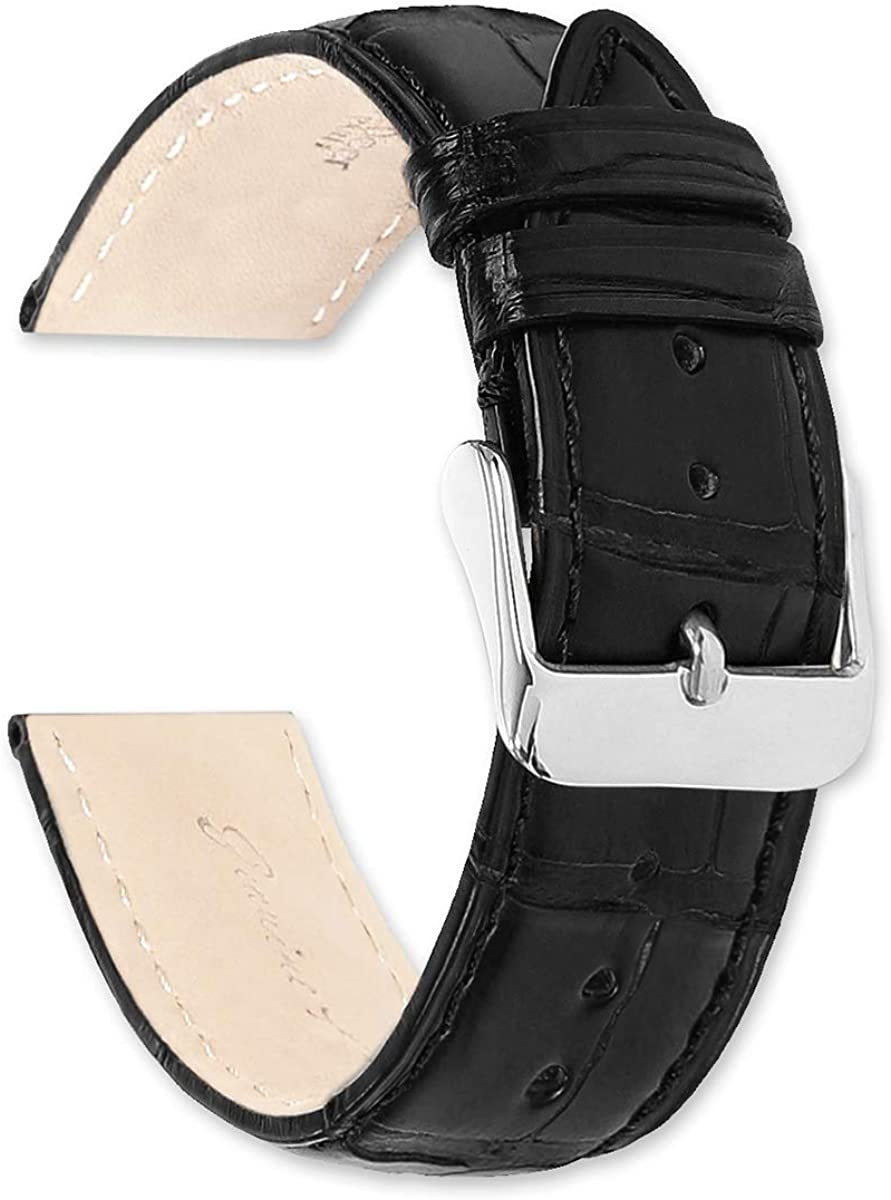 24mm Genuine Alligator Watch Strap National products Band Ranking TOP9 Black by - deBee