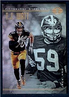 2018 Panini Illusions Football #83 Jack Ham/T.J. Watt Pittsburgh Steelers Official NFL Trading Card