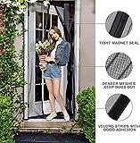MODKOY Fliegenschutz balkontür Vorhang 170x245cm, Magnetische Adsorption Automatisches Schließen, Einfach zu montieren Ohne Bohren, Insektenschutz, für Geschenke Balkontür, Schwarz