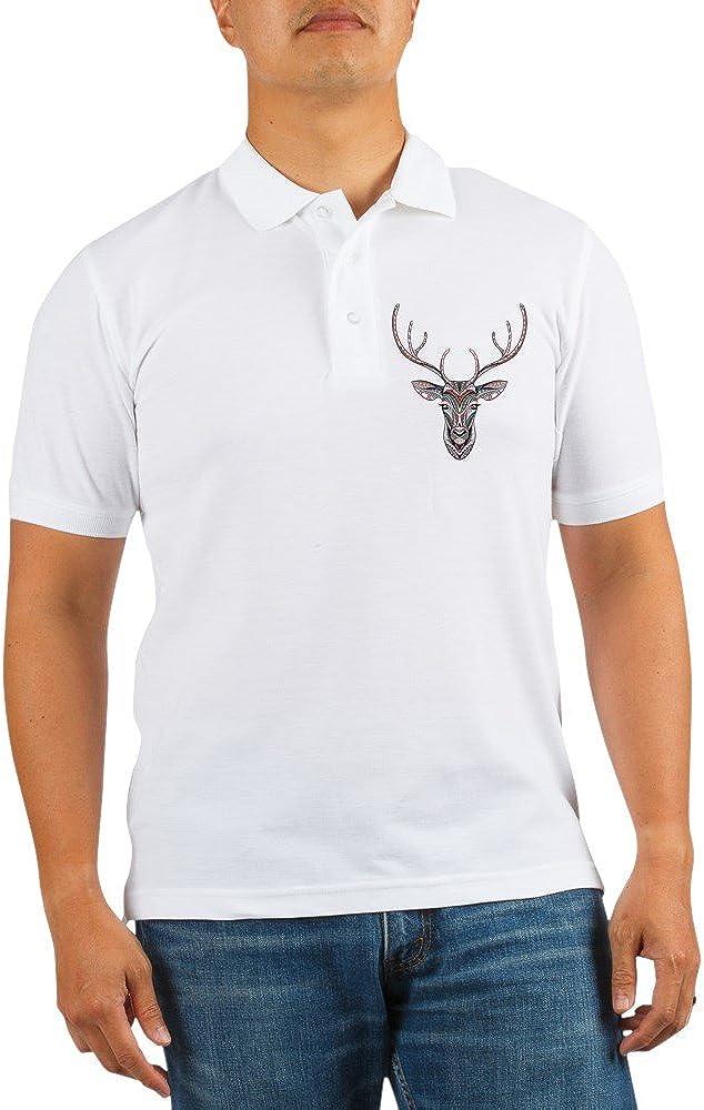 Royal Lion Golf Shirt Patterned 4 years warranty Minneapolis Mall Head Trophy Deer Hunter