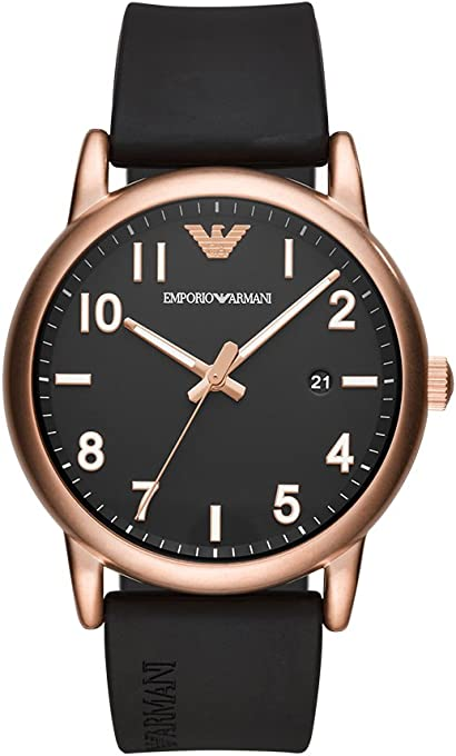Emporio Armani Men's 'Sport' Quartz Stainless Steel and Rubber Casual Watch
