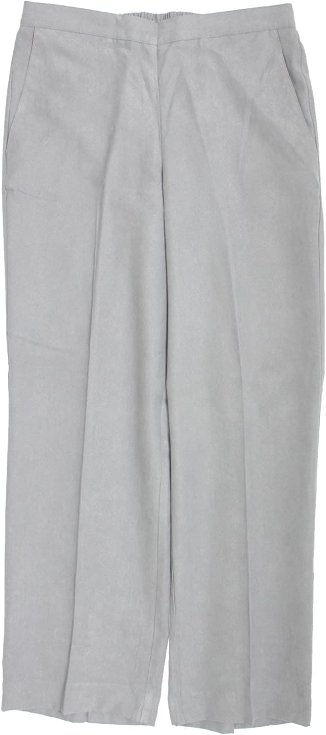 Alfred Dunner Womens Plus Faux Suede Traditional Fit Dress Pants