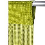 Fadenvorhang mit Stangendurchzug, individuell kürzbare Gardine, moderner und eleganter Dekorationsartikel in vielen Farben und Ausführungen (B90xL250 cm/hellgrün - apfelgrün)