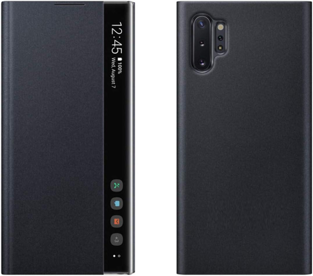 intelligent mit Standfunktion f/ür Galaxy A51 Suhctup Klappschutzh/ülle f/ür Samsung Galaxy A51 seitliches Sichtfenster ultrad/ünn