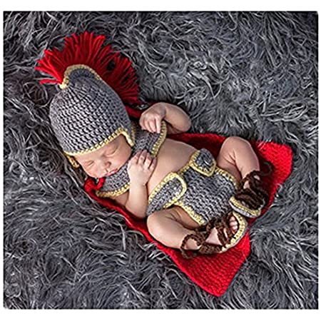 Binlunnu Fashion Newborn Boy Girl Baby Costume Outfits Photography Props Army General Set