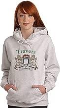 Travers Irish Coat of Arms Ash Hooded Sweat shirt