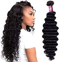 Odir Brazilian Deep Wave Human Hair Bundles 1 Bundle 18 inch 9A Unprocessed Brazilian Deep Curly Virgin Human Hair Weave Bundles Natural Color