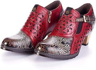 Stivaletti Per Le Donne, in Inverno Alta Tacco Martin Stivali Casual Comodi All'aperto Anti-Slip Walking Shoes