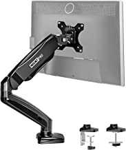 MOUNT PRO Single Monitor Desk Mount - Articulating Gas Spring Monitor Arm, Removable VESA Mount Desk Stand with Clamp and ...