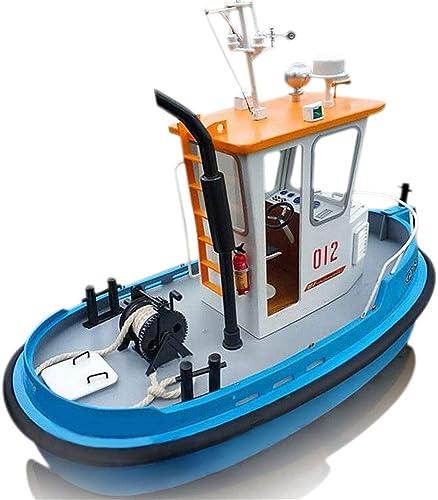 1  18ABS Bateau en bois Modèle Navire Faway Pin Mini RC Bateau Rescue Kit d'outils de simulation DIY 26,9x 13x 19cm