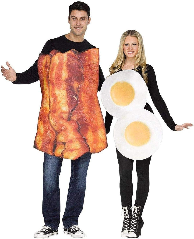 Unbekannt Lustiges Bacon und Ei Paarkostüm braun-Weiss-Orange M   L B00WQ2L2HA Moderate Kosten  | Billig ideal