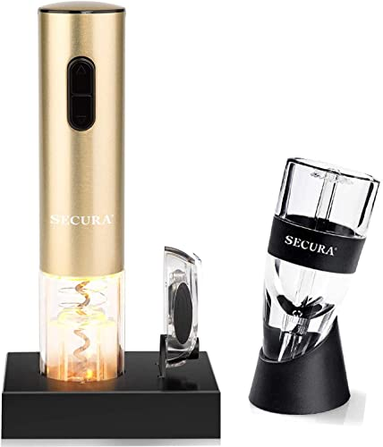 new arrival Secura wholesale Bundle Electric Wine Opener With online sale Wine Aerator Pourer online